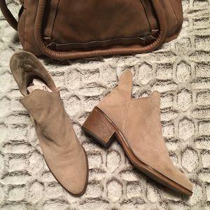 Zara Suede Ankle Booties